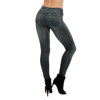 Gtpdpllt S-XXL Women Fleece Lined Winter Jegging Jeans Genie Slim Fashion Jeggings Leggings 2 Real Pockets Woman Fitness Pants Maternity Jeans Pants