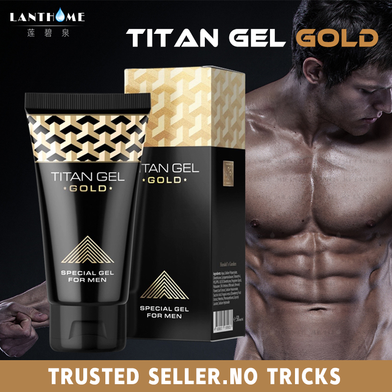 3pcs Original Titan Gel Gold Russia Penis Enlargement Cream Retarder Intim Gel For Help Male Potency Penis Growth Delay Cream