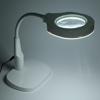 Detachable 5X / 12X Magnifier with Light Desk Magnifier Lamp Illuminated Magnifier For Archaeology Prospecting Reading