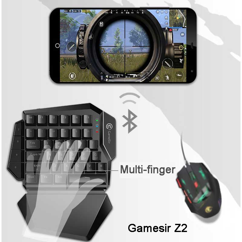 GameSir Z2 Gaming Battledock Gamepads One handed E sports Blue Switch Mechanical Keyboard Support Android IOS