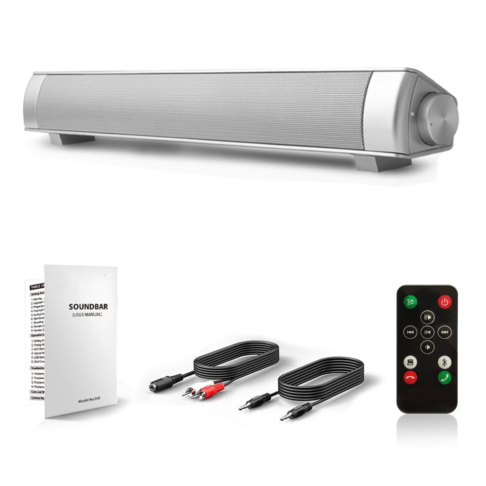 Wireless Bluetooth Speaker Super Bass Stereo Loud Speaker Long Standby Soundbar Speaaker for Phone TV