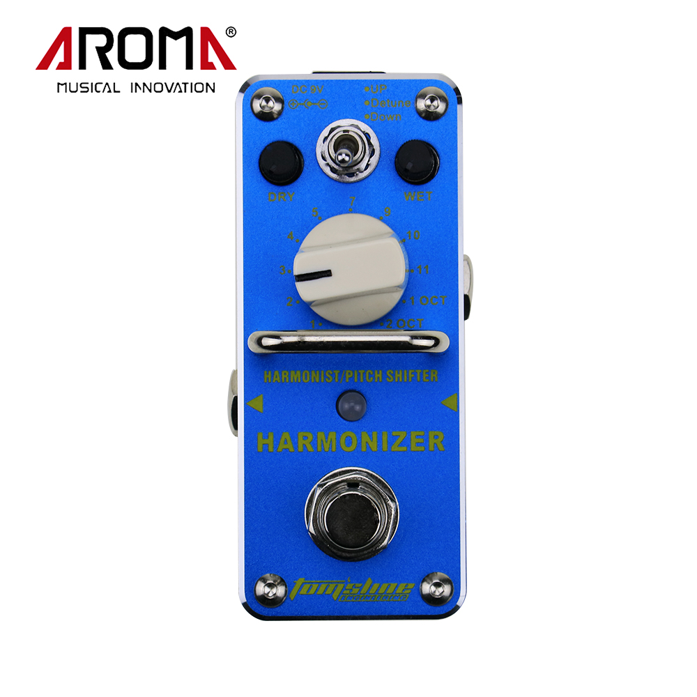 Aroma AHAR-3 Harmonizer Harmonist/Pitch Shifter Electric Guitar Effect Pedal With True Bypass aroma agr 3 greenizer vintage overdriver electric mini singer guitar effect pedal true bypass