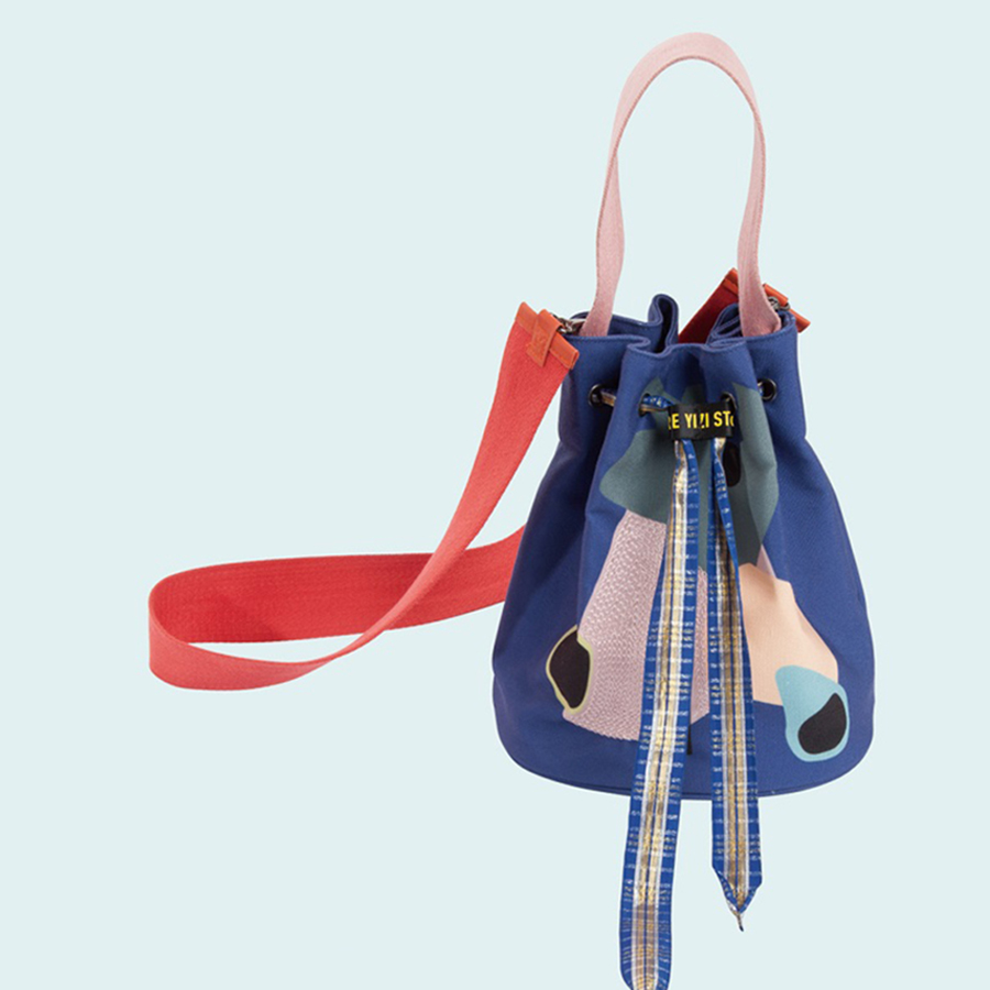 YIZISTORE fashion canvas women embroidery drawstring bags in Colorful World series 2017[FUN KIK]