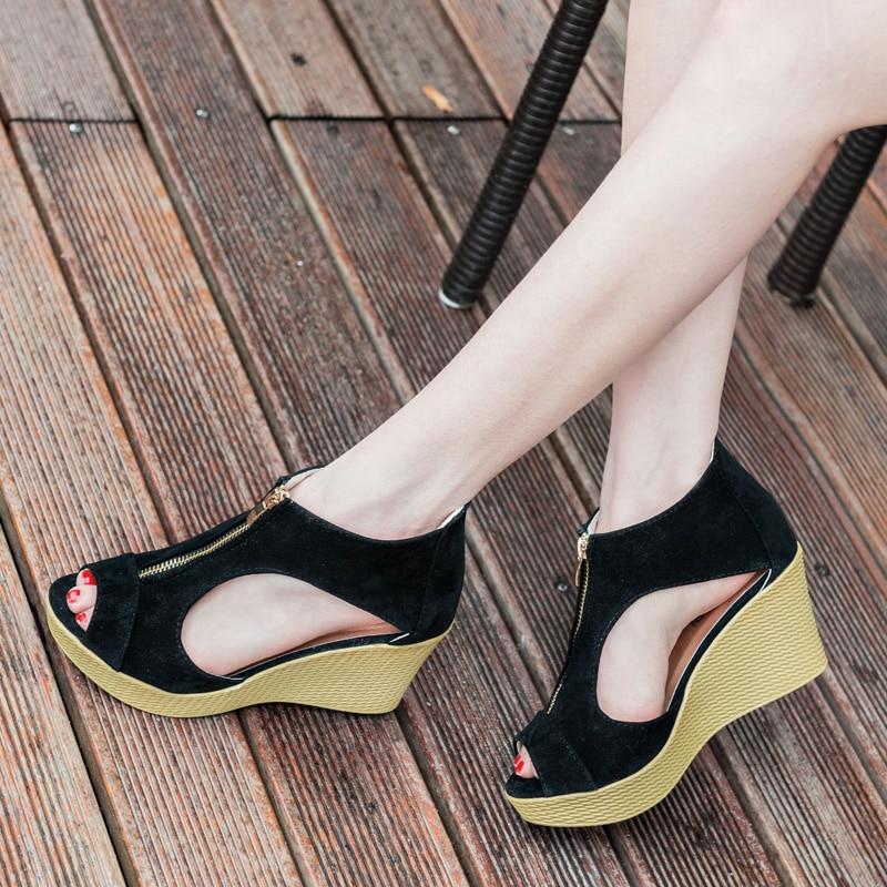 E TOY WORD Summer Shoes Woman Platform Sandals Women High Heel Sandals Peep Toe Gladiator Wedges Women Sandals zapatos mujer 4