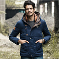 2016 New fashion men down jacket parka winter  casual hooded windproof thick thicken parka coat for men