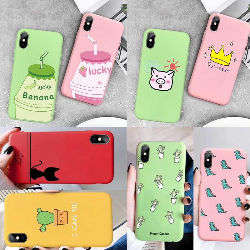 Case For iPhone XS Max XR X 8 7 6 6S 6 S Plus Soft Silicone TPU Ultra Thin Lover Cute Painted Back Cover For iPhone 5S 5 SE Case
