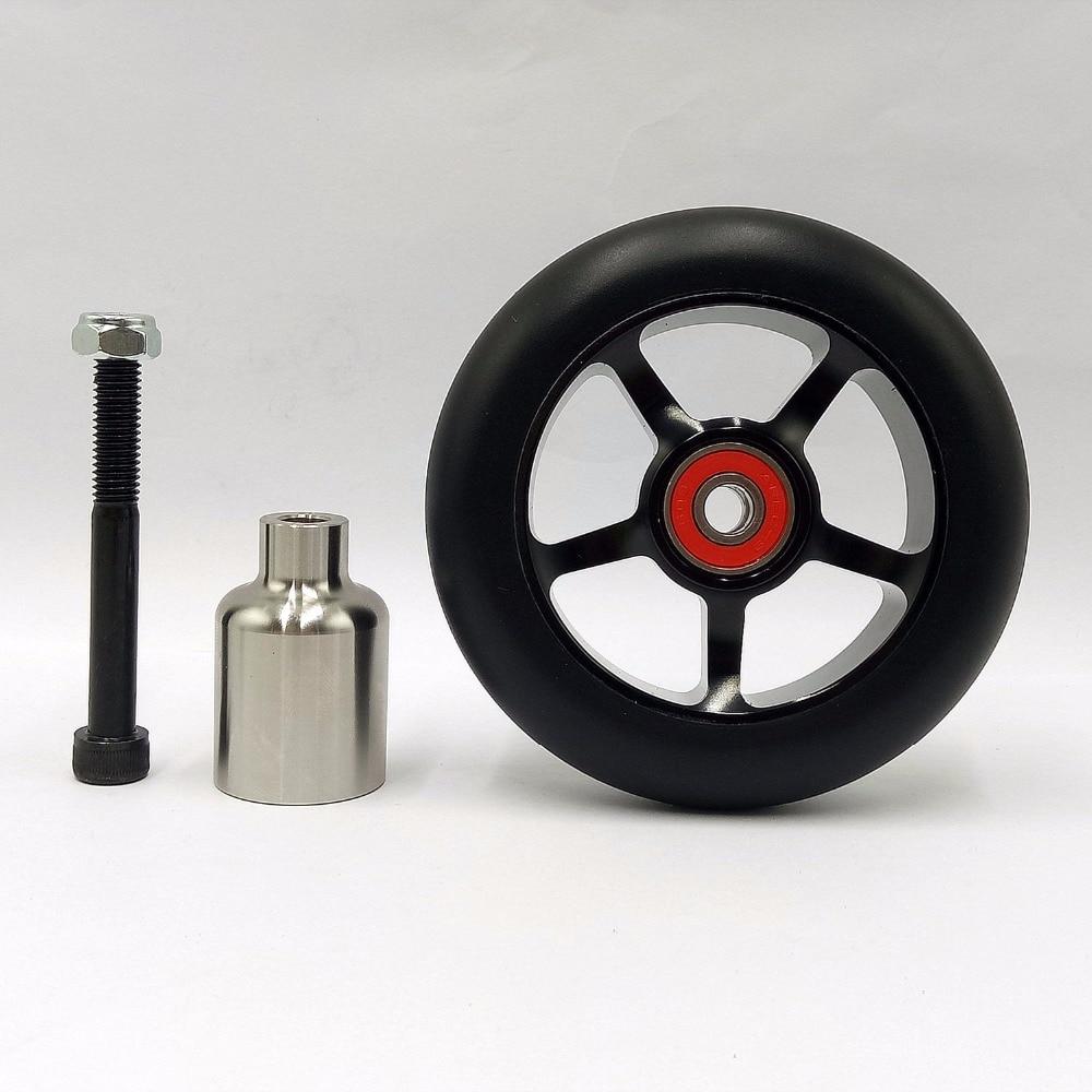 2wheels+1peg  Free shipping high quality stunt scooter wheels  wheel roller skis  scooter wheels 100mm ABEC-9 bearings