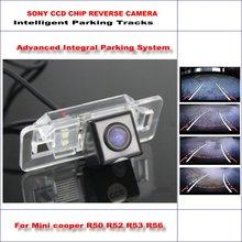 Dinámica de Orientación de La Cámara Trasera Para Mini cooper R50 R52 R53 R56/580 Líneas de TV HD 860 Píxeles Aparcamiento Intelligentized