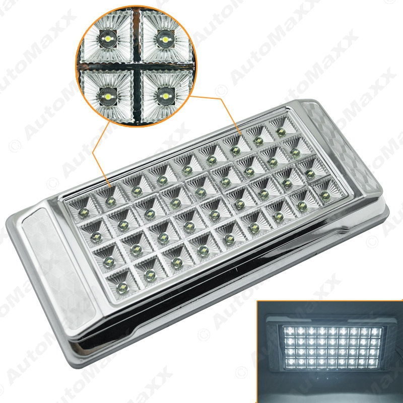 1Pc High Quality White 36 LED Car Interior LED Lights Dome Ceiling Roof Lamp for Vehicle Auto Caravan #J-3073 partol black car roof rack cross bars roof luggage carrier cargo boxes bike rack 45kg 100lbs for honda pilot 2013 2014 2015