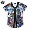 Juego de Los Hombres de Las Mujeres Unisex de Dibujos Animados en 3d de dibujos animados Anime Imprimir Caracteres Precioso Jersey de Béisbol de Verano Tops Camiseta HipHop