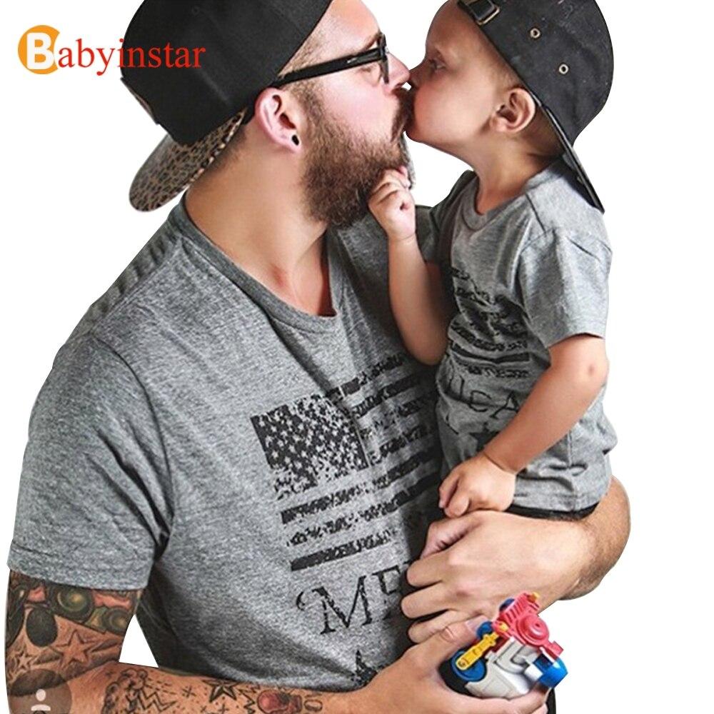 Babyinstar 2018 Új apa Baby Boy ruhák Nyári rövid ujjú pamut póló Outwear Fashion Family Matching Outfits