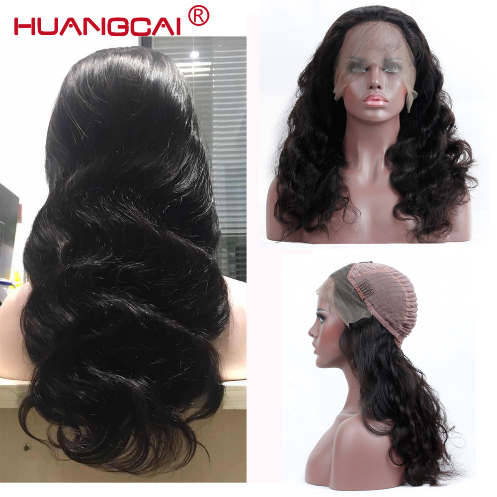 13*4 Lace Front Human Hair Wigs For Women Brazilian Body Wave Lace Frontal Wig Pre Plucked With Baby Hair Remy Hair Black Color