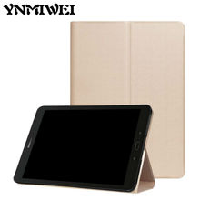 """For Samsung Tab S3 T820 PU Leather Case Slim 9.7"""" Tablet Smart Cover Fundas For Samsung Galaxy Tab S3 9.7 T820 Protective Stand"""