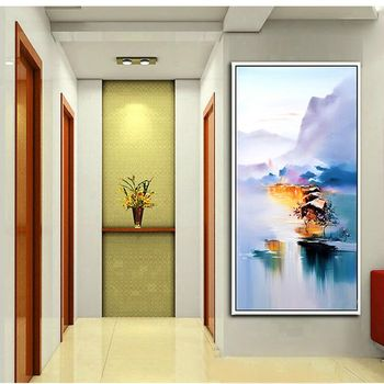 China Style Hand Painted Wall Art Modern Home Abstract Oil Painting On Canvas Wonderful Landscape Wall Pictures For Living Room