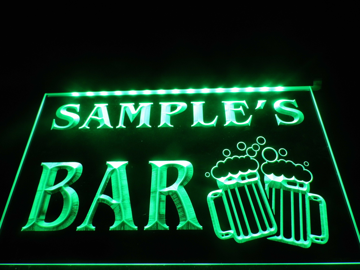 dz028 name personalized custom home bar beer mugs cheers neon sign hang sign home decor crafts. Black Bedroom Furniture Sets. Home Design Ideas