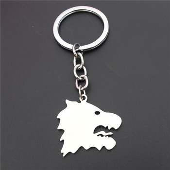 Wolfhound Dog Keychains Stainless Steel Keyring Jewelry For Men Christmas Gift image