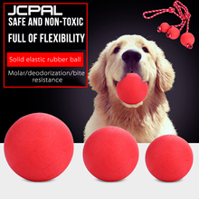 JCPAL 1PCS Red Pet Dog Toy Interactive Rubber Balls Puppy Chew Toys Teeth Tooth Cleaning Food Supplies