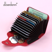 card holder wallet 13 cards genuine leather women men's  credit card holders cases   wallet business card package fashion все цены