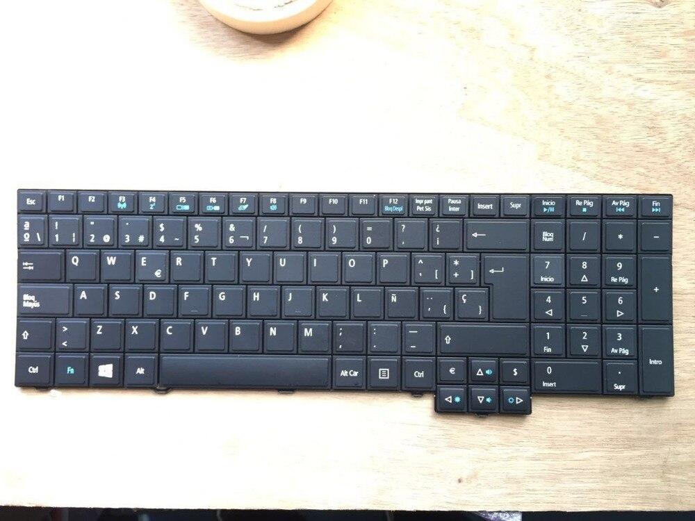 New Laptop keyboard for Acer TravelMate TM 5760 6595TG SP/SPANISH layout laptop keyboard for acer silver without frame bulgaria bu v 121646ck2 bg aezqs100110