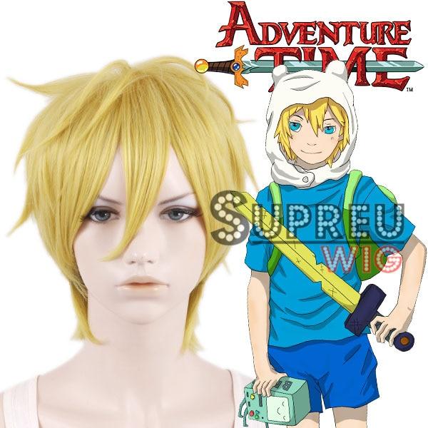 Adventure Time Finn Short Yellow Blonde Anime Cosplay Wig Lq174g Wig Glue Cosplay Wigs Ukcosplay White Wig Aliexpress