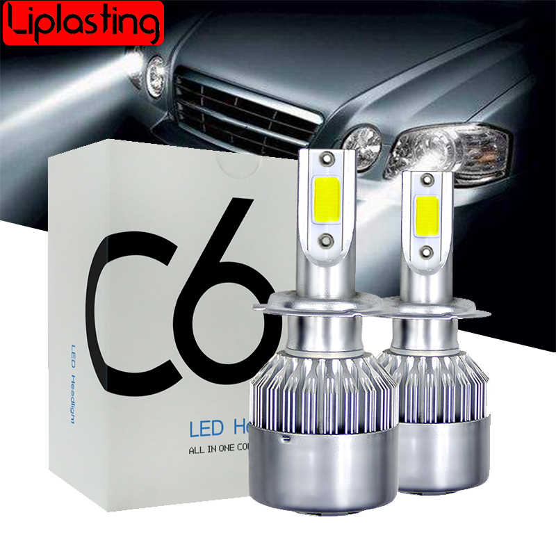 2X 6000K H4 LED H7 H11 HB4 H1 H3 HB3 880 Auto C6 Car Headlight Bulbs 72W 8000LM Car Styling 9004 9005 9006 9007 led automotivo