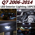 16pcs X free shipping Error LED Interior Light Kit Package for AUDI Q7 accessories 2006-2014