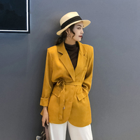 Female Long Suit jacket Office Lady Business Women Blazers Spring Autumn Women's Blazer casual loose Suit Oversize Outwear