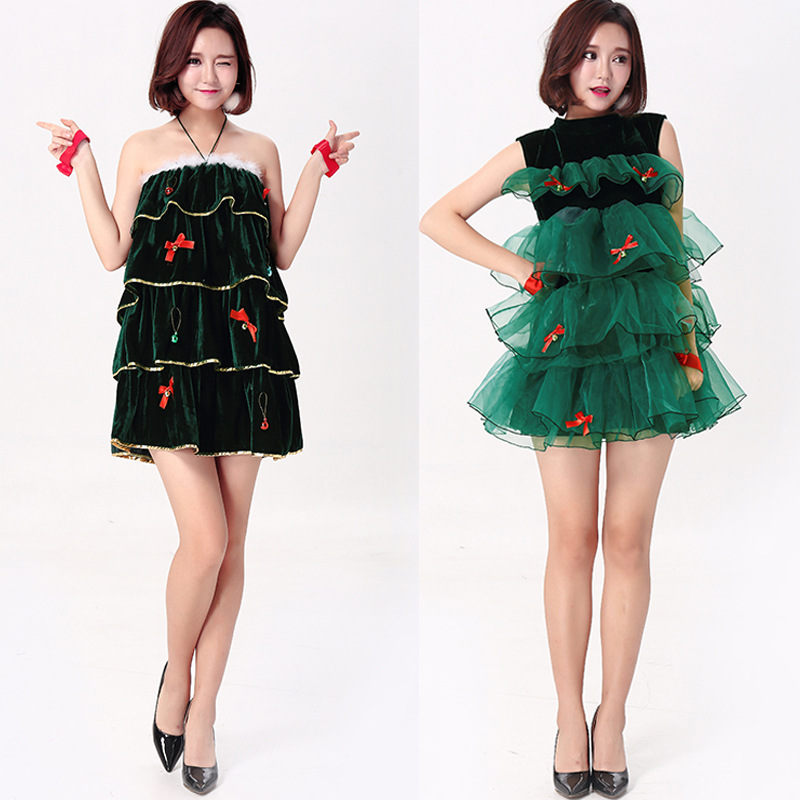 Christmas Tree Dress Costume: Christmas Tree Costume Women Halloween Fancy Party Dress