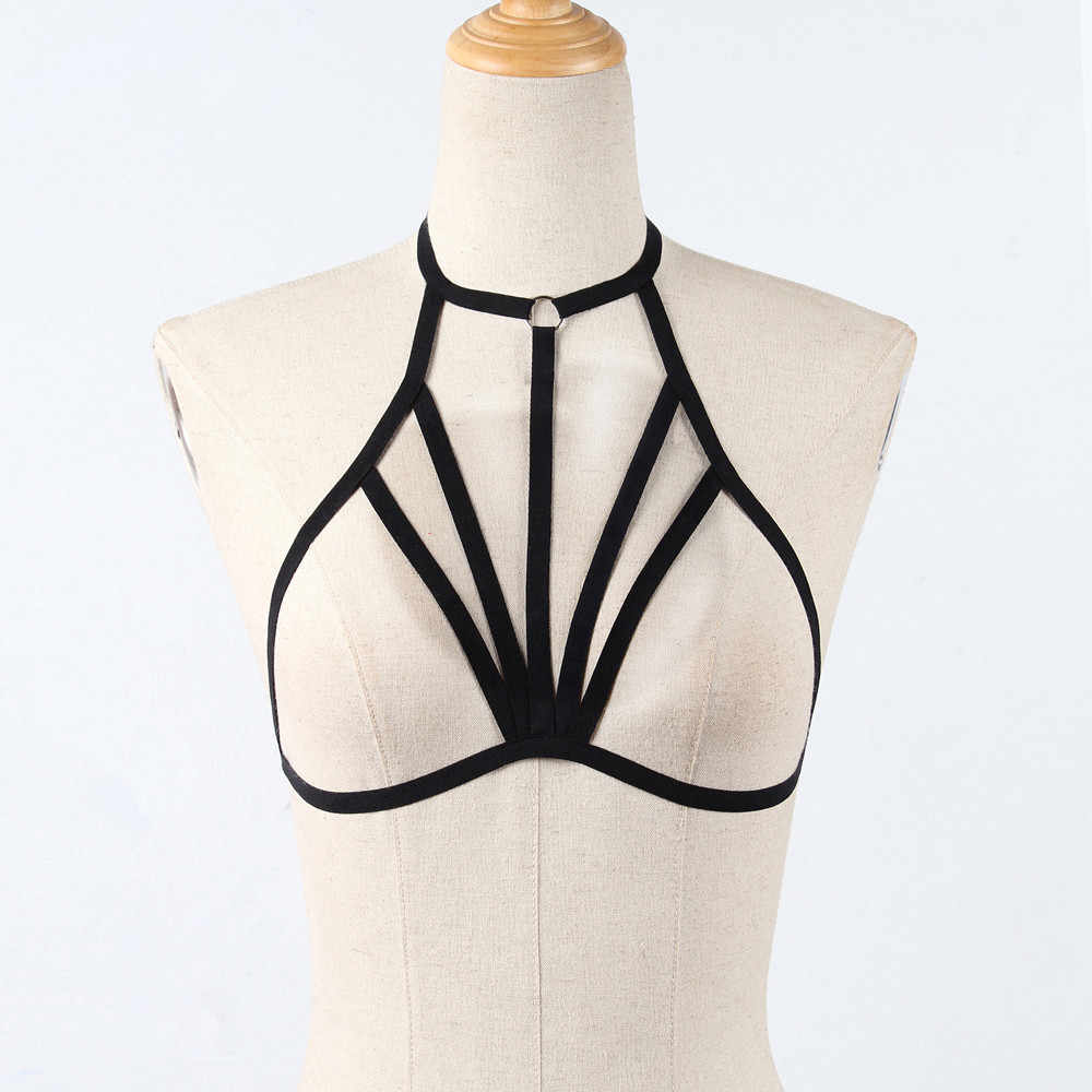 مثير المرأة الجسم حمالة الصدر الجوف خارج الصدر ضمادة Strappy الرسن البرازيلي الملابس الداخلية المثيرة قفص الصدرية حزام الحمالات جديد
