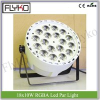 white shell RGBA 18x10w indoor professional stage equipment led par light
