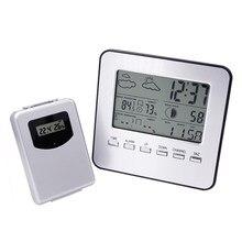 Hygromètre numérique sans fil, affichage multilingue, pour intérieur ou extérieur, avec Radio météo, réveil, thermomètre, 20%