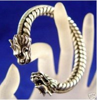 הטיבטי תכשיטים מעולה סין אסיה צמיד צמיד הכסף מיאו דרקון משלוח חינם מהיר