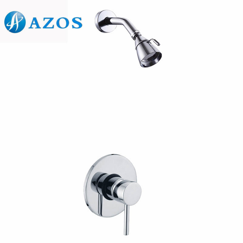 Bathroom Single Handle Shower Faucet Trim Valve Body Complete Kit Polished Chrome Color LYTZ057