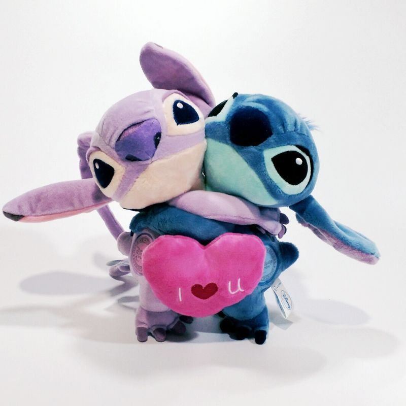 20cm 7.8'' Lilo And Stitch Toys #626 Stitch And #624 Angel Couple love Stuffed Plush Soft Toy For Gift lilo and stitch toy 626 experiment 4 hands stitch plush figure doll 22cm cute stuffed animals baby kids toys for children gifts