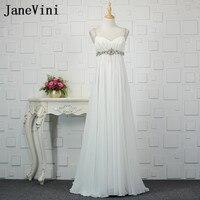 JaneVini белый плюс размер Длинные свадебные платья для беременных женщин Кристальное шифоновое, для будущих мам платья подружек невесты с кор