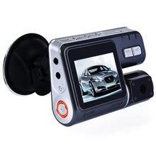 330 Grados de Rotación De La Lente Dual Videocámara Auto Del Coche DVR de Doble Cámara HD 1080 P Dash Cam Cuadro Negro Que Conduce el Registrador Con Trasera de Aparcamiento
