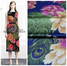 150cm heavy elastic printed fabric high imitation silk cheongsam digital printing Hanfu dress wholesale cloth