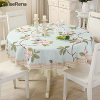 Pastoral Blending Round Table Cloth Waterproof Banquet Party Tablecloth Wedding Home Hotel Decorations toalha de High Quality