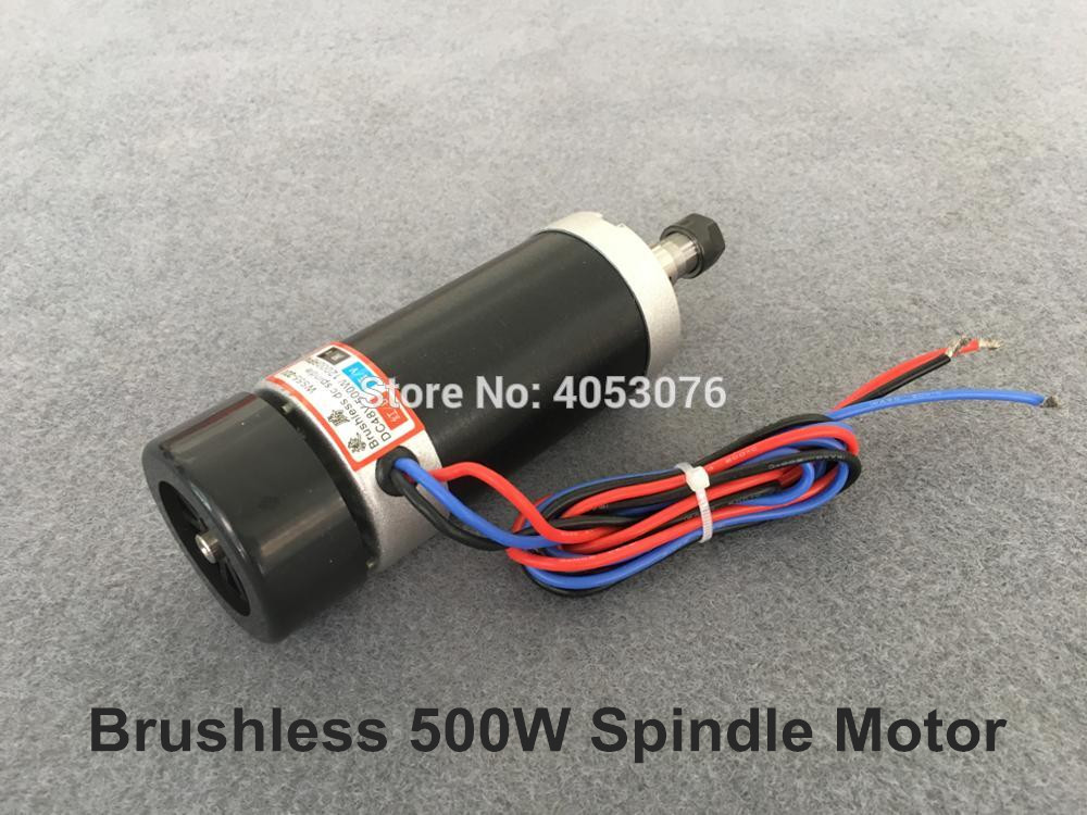 2018 Free Shipping 500W CNC Spindle Motor 12000 RPM Brushless DC Spindle ER11/ER16 Motor For Milling Machine free shipping 3 pcs er16 collets 3 175 mm 1 8 4mm and 6mm for cnc milling lathe tool and spindle motor er16 collets