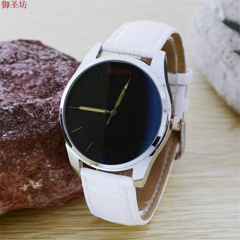 Sports White Leather Strap Waterproof Men's Quartz Watch Relojes Hombre 2017 Erkek Kol Saati Horloges Mannen Mens Watches B200 1pc used koyo koyo e 55n