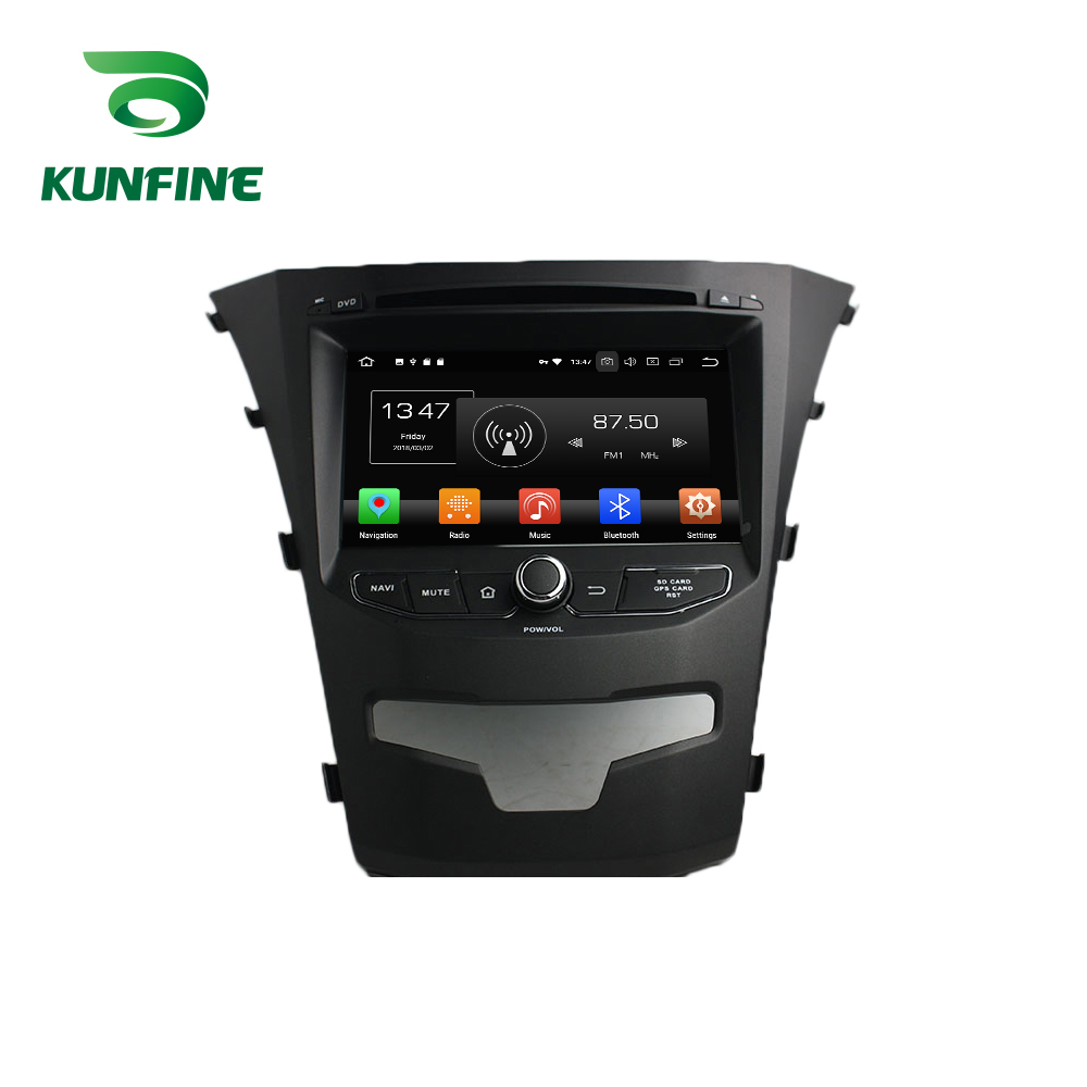 Octa Core 4 GB RAM Android 8.0 voiture DVD GPS Navigation lecteur multimédia voiture stéréo pour SsangYong Korando 2014 Radio Headunit