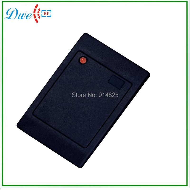 Hot sell! free shipping em id 125khz wiegand 26 wiegand 34 Black color access control door rfid reader. mini 125khz wiegand 26 for door access control rfid card proximity id em reader color black