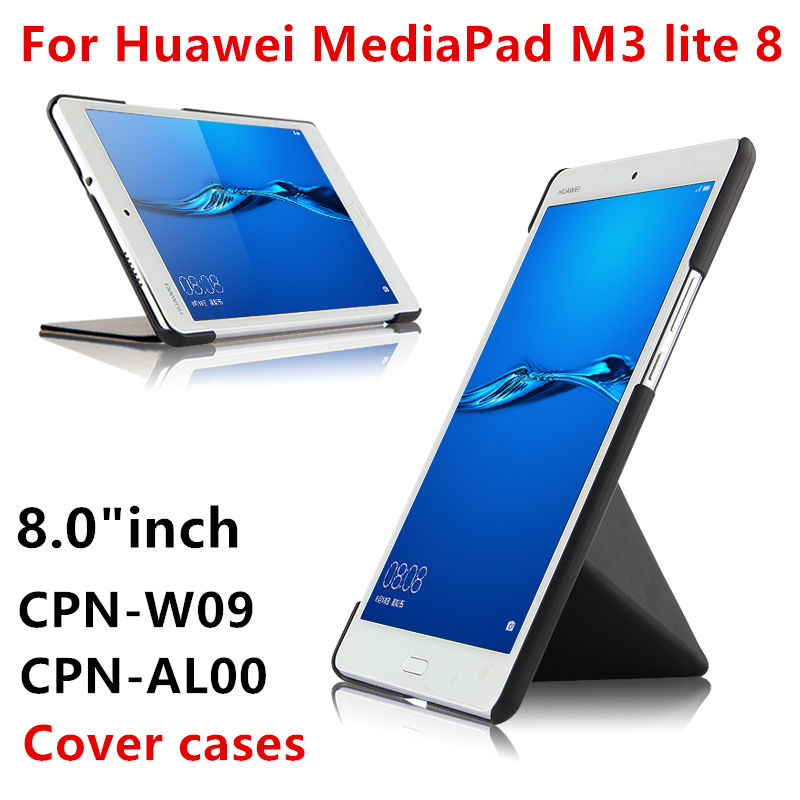 Case For Huawei Mediapad M3 lite 8.0 CPN-W09 AL00 8 Tablet Protective Cover PU Leather m3 lite8 8inch PU Protector Sleeve Cases ultra slim magnetic stand leather case cover for huawei mediapad m3 lite 8 0 cpn w09 cpn al00 8tablet case with auto sleep