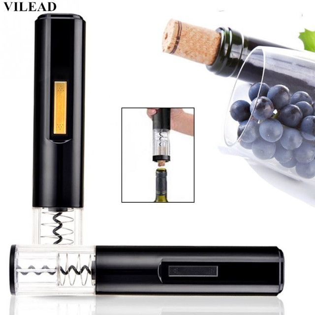 VILEAD Good Quality Automatic Electric Wine Bottle Opener Electric Corkscrew Electric Wine Opener Tool Foil Cutter Kitchen