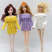 2018 New Doll Accessories Knitted Handmade Sweater Tops Coat Dress Clothes For Doll Gifts For Girls' Kids Toy(China)