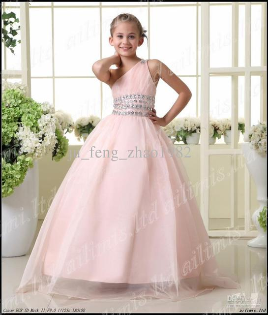 Girls Pageant Bridesmaid Dance Party Princess Ball Gowns Formal Dress  Pretty Cute Dresses for Little Girl Kid d2d6ac721b96