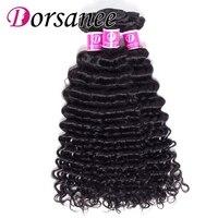 Dorsanee Hair 3 Bundles Indian Human Hair Deep Wave Hair Weft Non Remy Hair Extension Natural Deep Curly Weaves Free Shipping