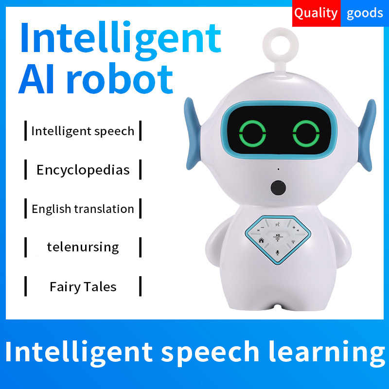 Timethinker Kids Smart AI Robot Early Education WiFi Control TF Companion  Learning Robot Voice Recognize Imitation Story Teller