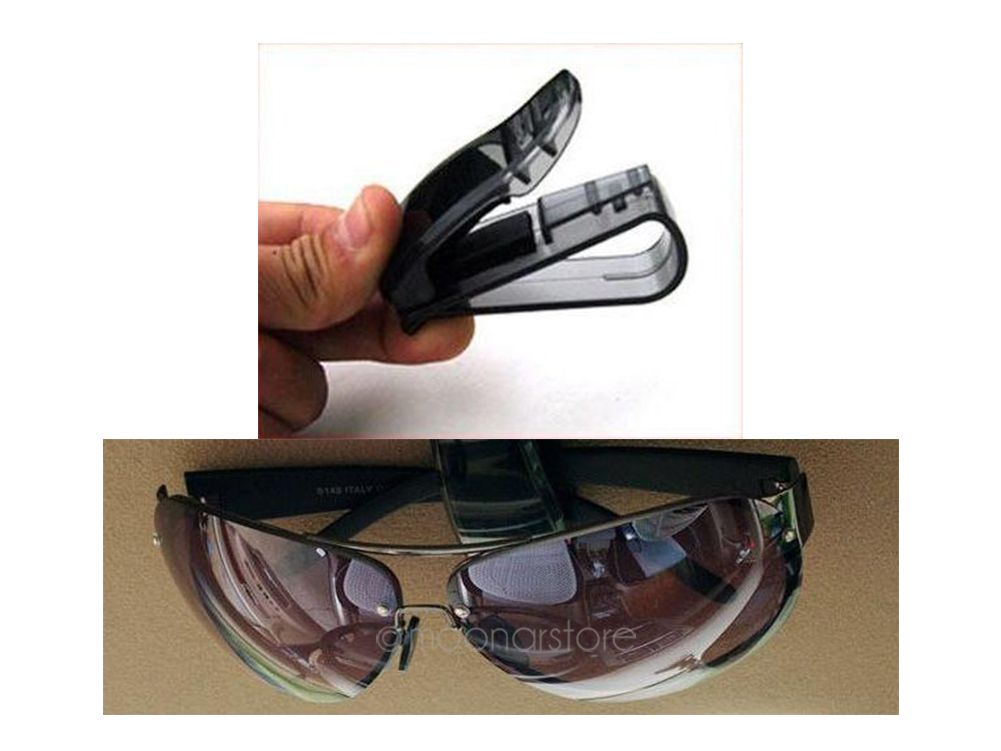 Hot Sale S-shaped Sunglasses ABS Portable Clips Car Vehicle Sun Visor Sunglasses Eyeglasses Glasses Ticket Holder Clip
