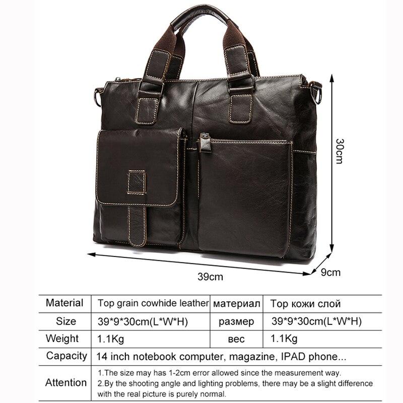 viagem dos homens pasta executiva Main Material : Men Bags Business Genuine Cow Leather